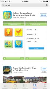 Kidpick App